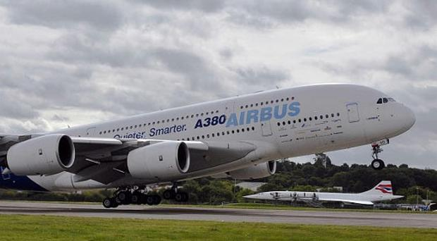 Airbus shares have fallen over A380 threat