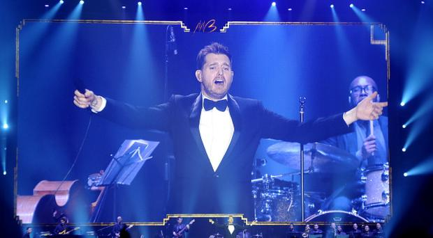 Michael Buble live at the Odyssey Arena in Belfast. Picture by Justin Kernoghan