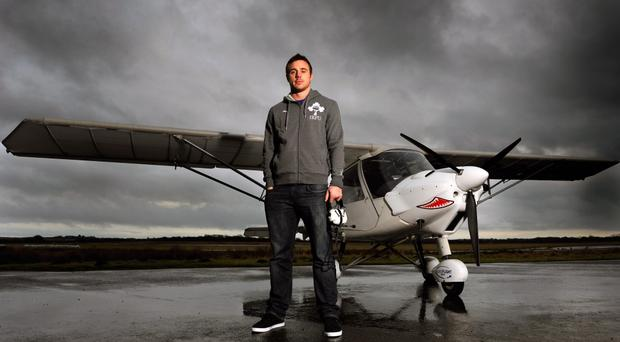 Winging it: Tommy Bowe plans to fly past his old team-mates at the Liberty Stadium