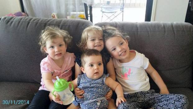Janet Bennis's grandchildren, from left to right, Saoirse, Isbelle, Teegan and Alexia