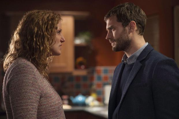 Bronagh Waugh with Jamie Dornan in The Fall