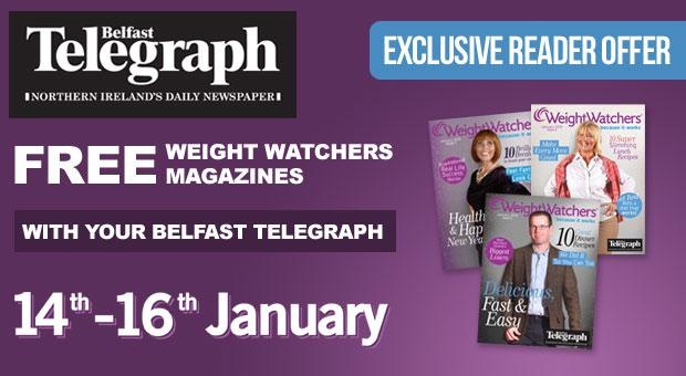 Free Weight Watchers Magazines with your Belfast Telegraph, 14-16 January