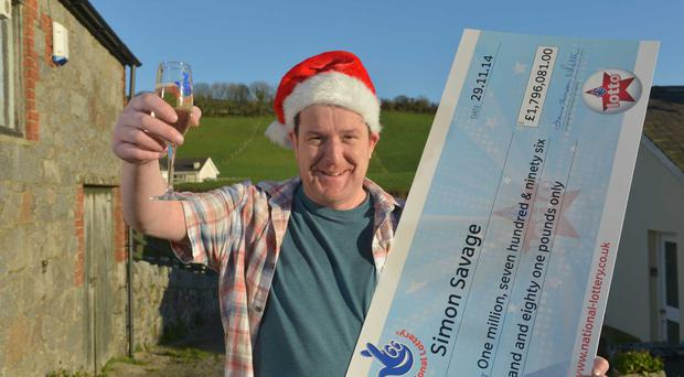Newry man Simon Savage has been revealed as Northern Ireland's latest National Lottery millionaire after scooping a massive £1,796,081 jackpot