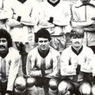 Whizzkid: Tony McCall (front row, centre) burst onto the scene with Ballymena United.