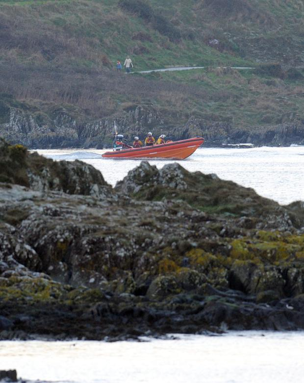 Rescue services scouring Bangor Bay for the missing swimmer