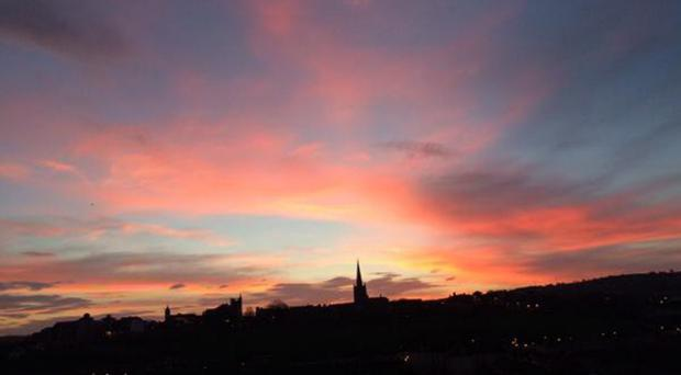 The Londonderry skyline posted by Martin McGuinness on Twitter