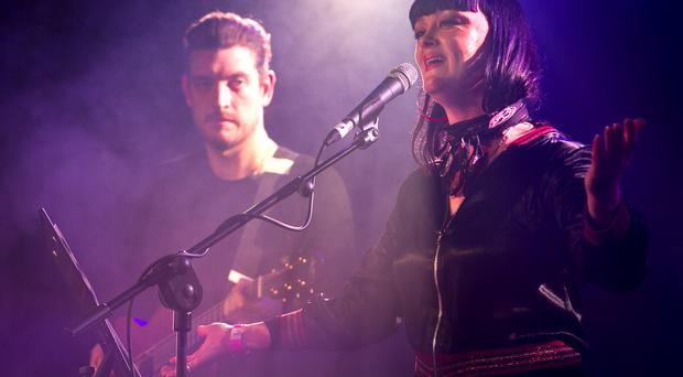 Nathan Connolly & Bronagh Gallagher performing at the Limelight for, Vibes for Terri - a benefit for Terri Hooley. December 28th 2014. Picture by Liam McBurney/RAZORPIX