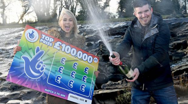 Shane Woods and Lauren McCormack, met at a local beauty spot in Sion Mills to celebrate. They are planning to buy a new home, a new car and a very nice honeymoon following their life-changing win.