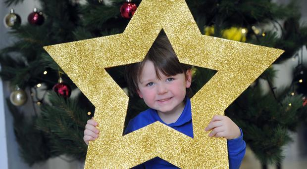 Special child: Conall Vaugh who lost his mum Jane a few days before Christmas last year
