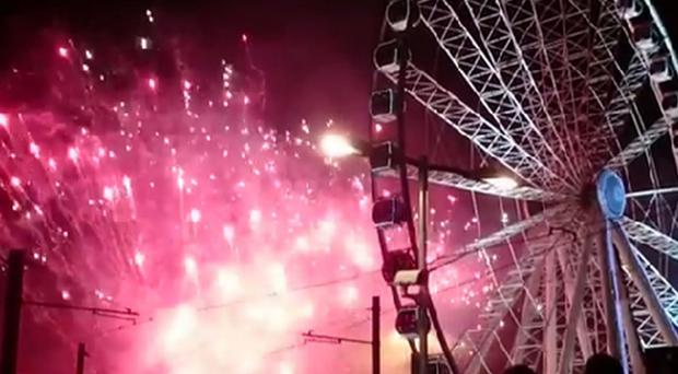 Manchester's New Year celebrations were delayed because of a tram...