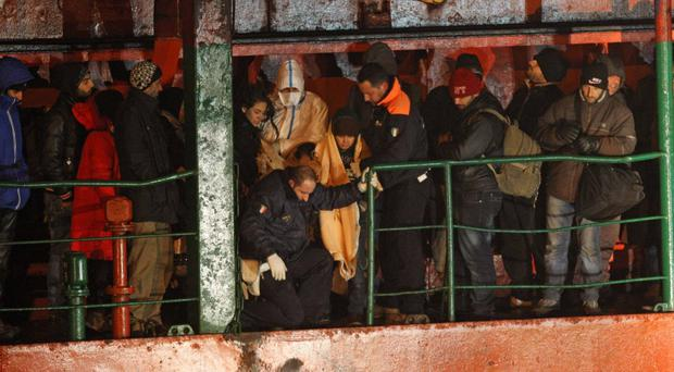 Days earlier the Italian Coast Guard lowered officials onto a Moldovan-flagged cargo vessel so they could take control of the ship, which was only a few miles from crashing in to the Italian coast.