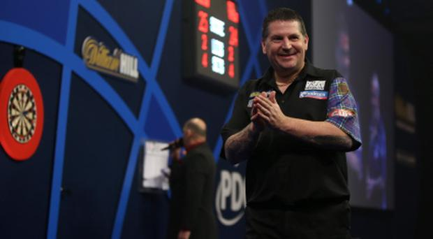 Number one: Gary Anderson celebrates world title win