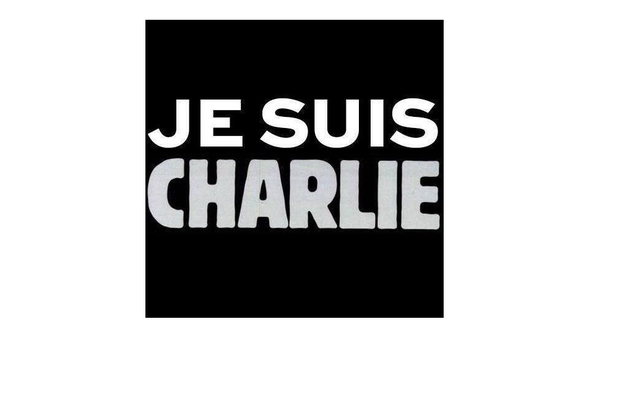 How the Charlie Hebdo website looked like today showing only the social media graphic that has been trending in support around the world.