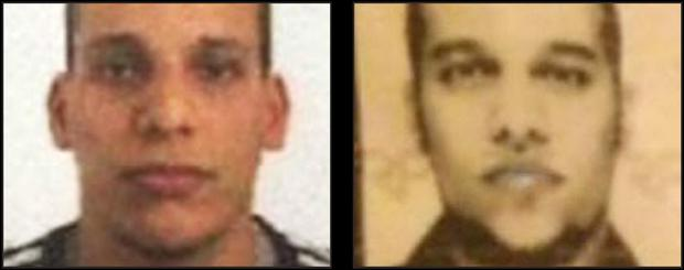 Suspects Cherif Kouachi and his brother Said