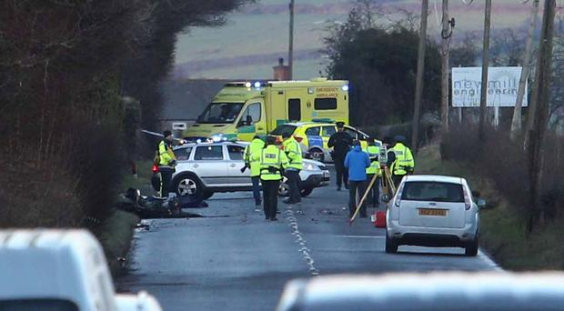 The collision happened on the A2 Larne Road at around 12.15pm on Tuesday. PACEMAKER BELFAST 13/01/2015
