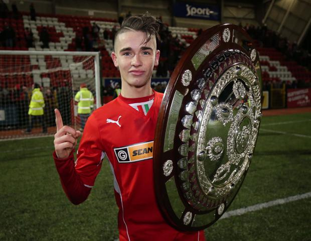 On the double: Jay Donnelly grabbed a brace for Cliftonville