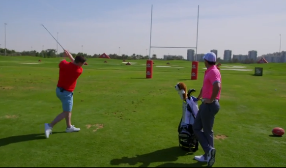 Rory challenges Brian O'Driscoll to take a shot with a difference