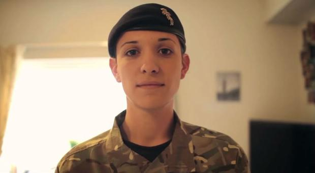 Captain Hannah Winterbourne of the Royal Electrical and Mechanical Engineers: the first openly transgender officer in the British army