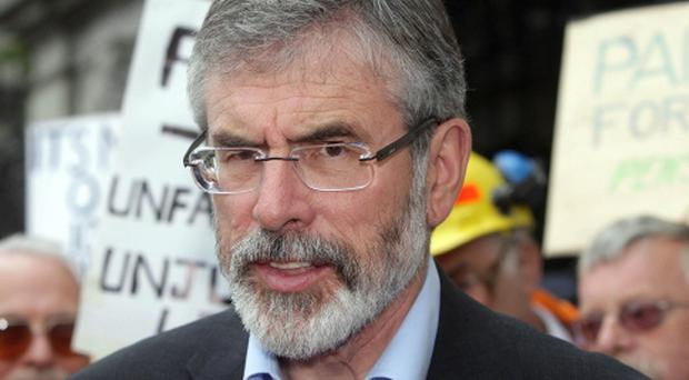 Sinn Fein leader Gerry Adams has previously raised concerns about the case of Mick Burns.