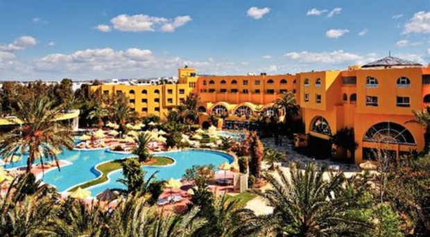 The woman was staying at the Chich Khan Hotel in Tunisia when a cat jumped out of bushes and attacked her bare legs