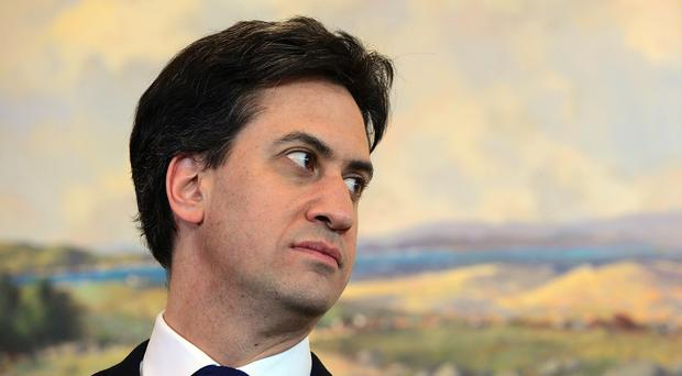 Labour leader Ed Miliband MP pictured at Stormont Castle in Belfast