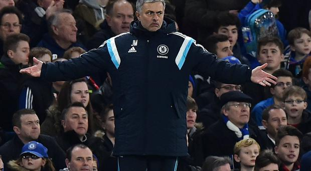 Jose Mourinho spent a lot of time complaining to the officials against Liverpool