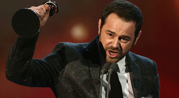 Danny Dyer accepts the Serial Drama Award during the 2015 National Television Awards at the O2 Arena, London. PRESS ASSOCIATION Photo. Picture date: Wednesday January 21, 2015. See PA story SHOWBIZ Awards. Photo credit should read: Yui Mok/PA Wire
