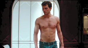 Jamie Dornan as billionaire Christian Grey in the trailler for Fifty Shades of Grey