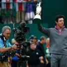 Cameras capture Rory McIlroy's victory at last year's Open Championship at Royal Liverpool