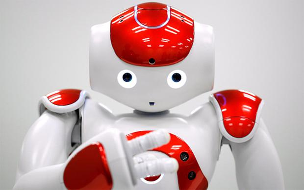 NAO the humanoid robot, developed by Softbank Corp. Photo: Bloomberg/Getty