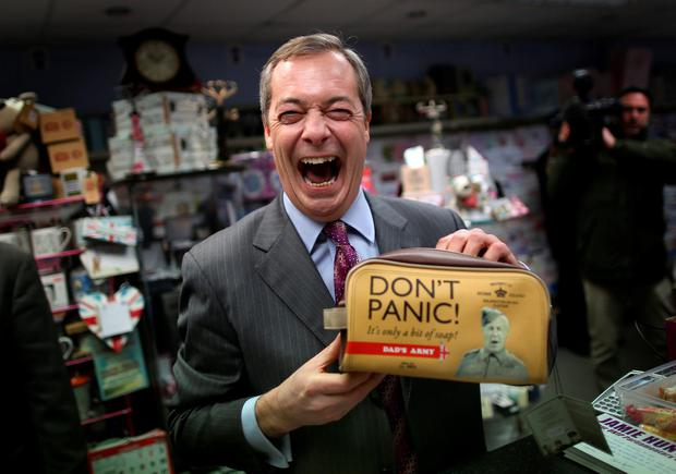 Ukip leader Nigel Farage said the BBC should be 'cut back to the bone'