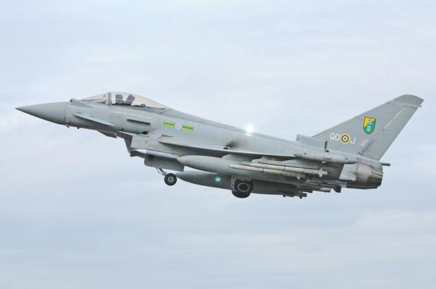 Four RAF Typhoons were deployed to Amari Air base in Estonia