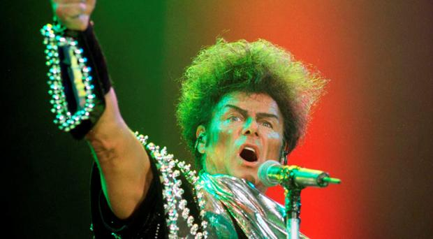 Gary Glitter, who was been jailed for 16 years at Southwark Crown Court for a string of historic sex attacks on three schoolgirls.