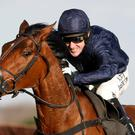 Out in front: Tony McCoy on way to victory on Bandit Country yesterday at Newbury, completing a double for the Ulsterman