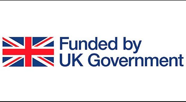 Image issued by The Treasury of a new Union Jack logo which will be displayed on roads, bridges and other publicly funded infrastructure projects throughout Britain under Government plans which may be seen as provocative by supporters of Scottish independence. HM Treasury/PA Wire.