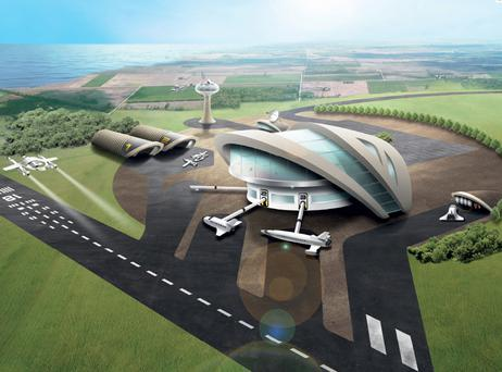 Artist's impression of the potential spaceport
