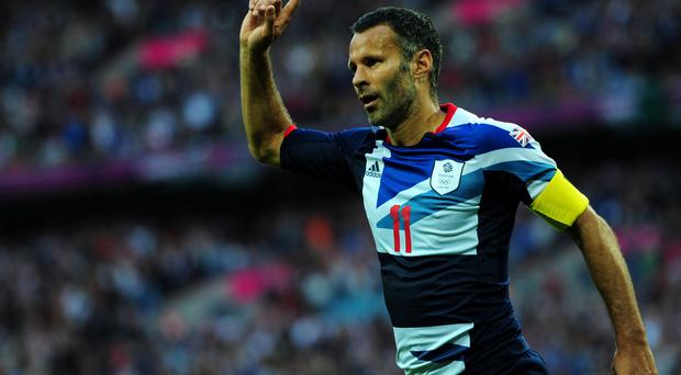 Ryan Giggs at the London 2012 Olympic Games at Wembley Stadium