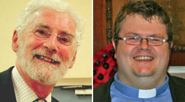 Canon Charles Kenny, left, and Rev Adrian Dorrian