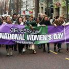 International Women's Day 2015 march through Belfast city centre. Saturday, March 7. Freddie Parkinson/Press Eye.