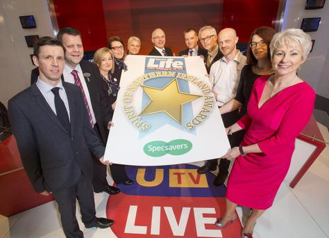 Spirit of Northern Ireland Awards 2015 launch with Pamela Ballantine and Frank Mitchell at UTV.