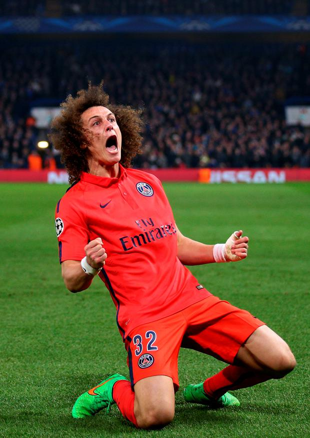 David Luiz was recently baptised in a PSG team-mate's indoor swimming pool (Photo by Paul Gilham/Getty Images)