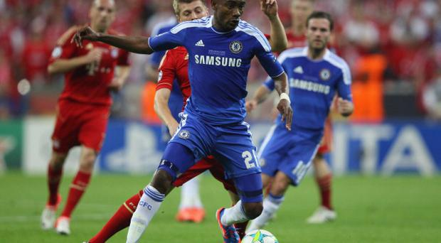 Salomon Kalou of Chelsea in action during UEFA Champions League Final between FC Bayern Muenchen and Chelsea in 2012