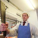 Hero butcher Jonny Blaney who chased off a robber with a meat cleaver. PICTURE MARK JAMIESON.