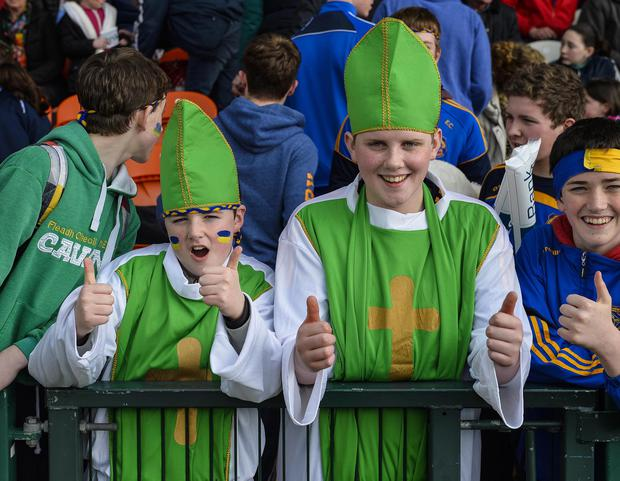Danske Bank MacRory Cup Final, Athletic Grounds, Armagh 17/3/2015 St Patricks, Cavan vs St Patrick's Academy, Dungannon Fans at today's MacRory Cup Final Mandatory Credit ?INPHO/Presseye/Russell Pritchard