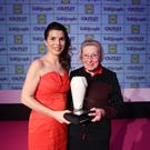 Woman of the Year in the Voluntary Sector: Sister Olive Cooney. Presented by Rachel Kearney, Lidl Northern Ireland. Picture by Kelvin Boyes / Press Eye.