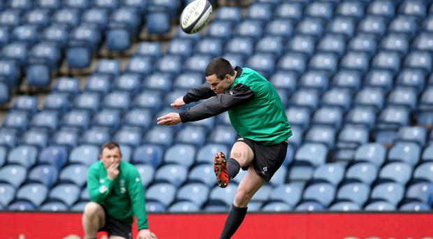 Ireland Rugby Captain's Run, Murrayfield, Edinburgh, Scotland 20/3/2015 Jonathan Sexton Mandatory Credit ?INPHO/Billy Stickland