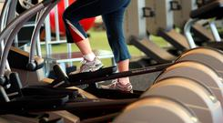 File photo dated 24/02/09 of a person in a gym as holidaymakers seem as keen to work out as chill out when away on breaks, according to a survey. PRESS ASSOCIATION Photo. Issue date: Sunday March 22, 2015. As many as 47% of Britons would be keen to head off on a fitness holiday, the poll by foreign exchange company Travelex showed. More than a third (34%) booking health holidays are prepared to spend ?500 or more on a trip, with more than half reckoning they will get better deals on fitness activities abroad than at home. Naked yoga and Nordic Walking are among the activities Britons have attempted, with 30% of those keen on a health holiday seeing it as a chance to tone up and 23% to lose weight. Also, 21% wanted to learn a new skill while 17% wanted to concentrate purely on their well-being. In contrast, boozy group trips only appealed to 5% of the 2,000 people polled. See PA story TRAVEL Fitness. Photo credit should read: Steve Parsons/PA Wire