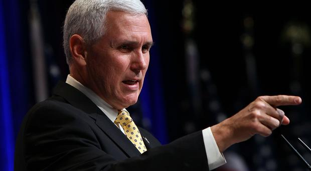 Indiana state Governor Mike Pence