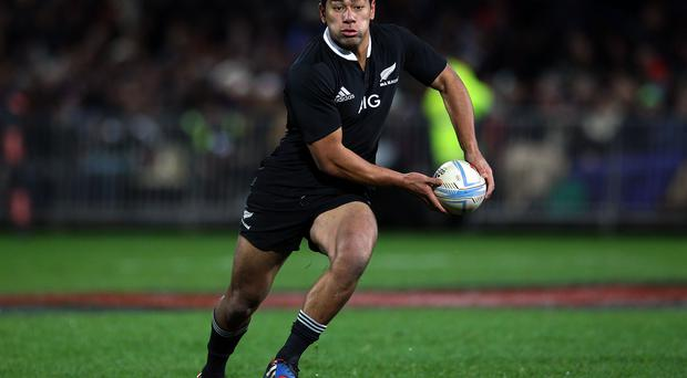 Charles Piutau of the All Blacks makes a run during the Third Test Match between the New Zealand All Blacks and France at Yarrow Stadium on June 22, 2013 in New Plymouth, New Zealand. (Photo by Anthony Au-Yeung/Getty Images)