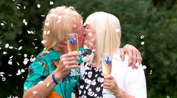 David Long and Kathleen Mackenzie in 2013, celebrating their Euro Millions win.